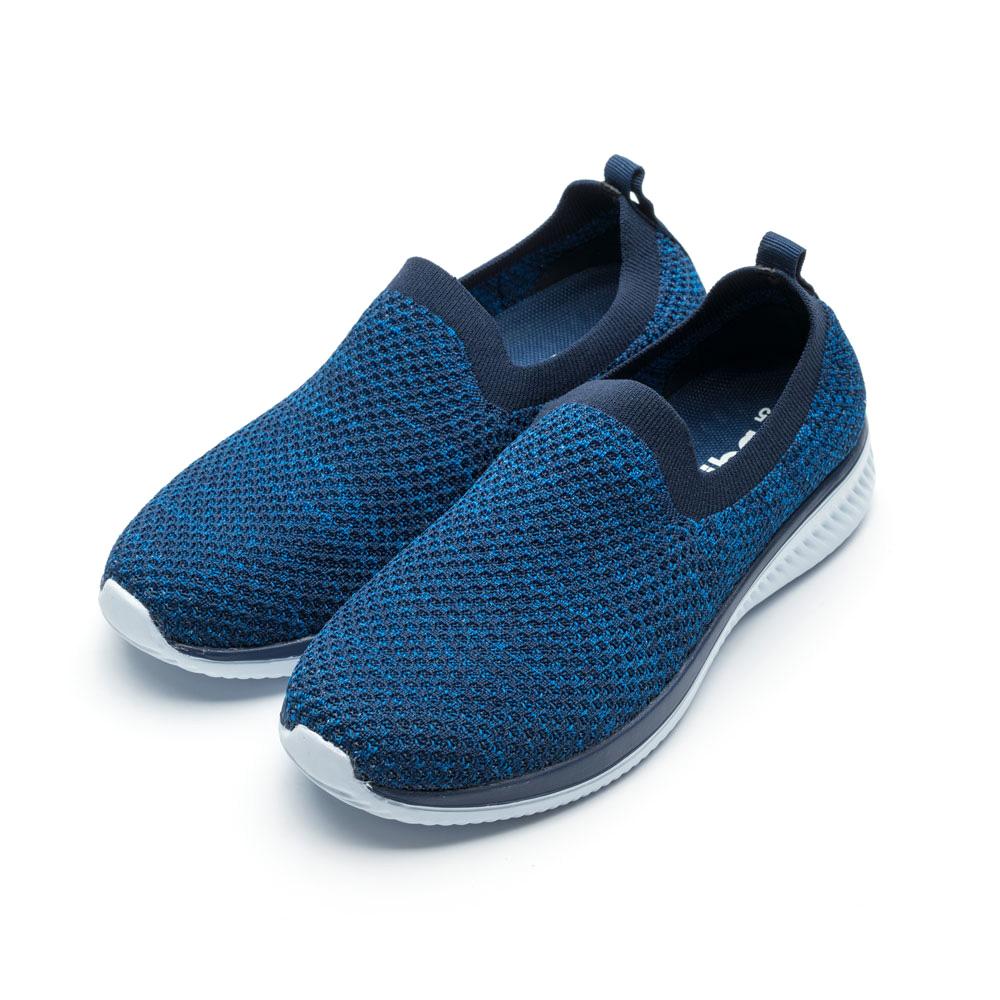 ARRIBA艾樂跑男鞋-飛織輕量便鞋 襪套鞋-藍/灰(FA520)