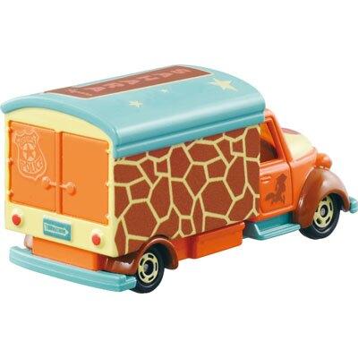 16041200001\tTOMY小車-夢幻宣傳車   迪士尼 動物方城市  Zootopia 小車 收藏 擺飾 真愛日本