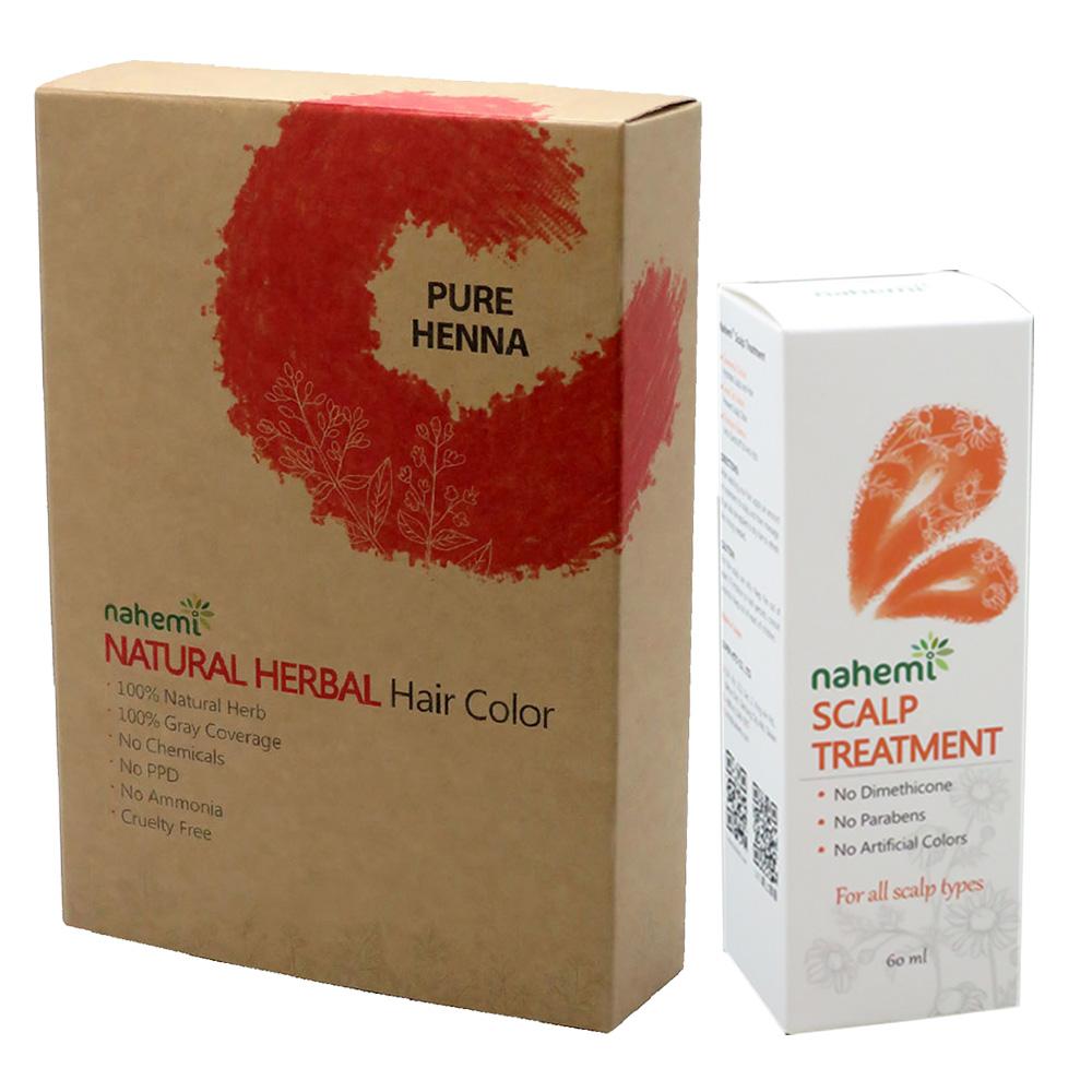 娜禾蜜 草本增色護髮粉|楓糖紅x1+頭皮調理精華液x1