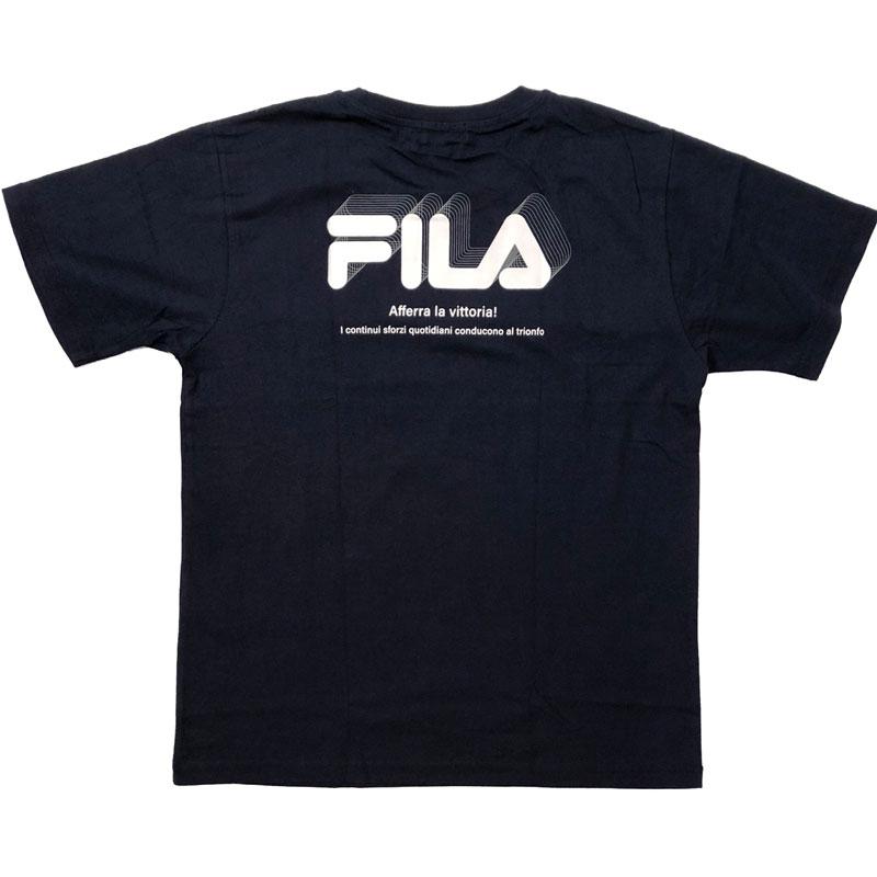 FILA - 日本限定 FH7693 背圖 純棉 短T (藍色)