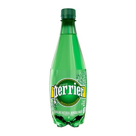 【法國Perrier】氣泡天然礦泉水 寶特瓶(500mlx24入)