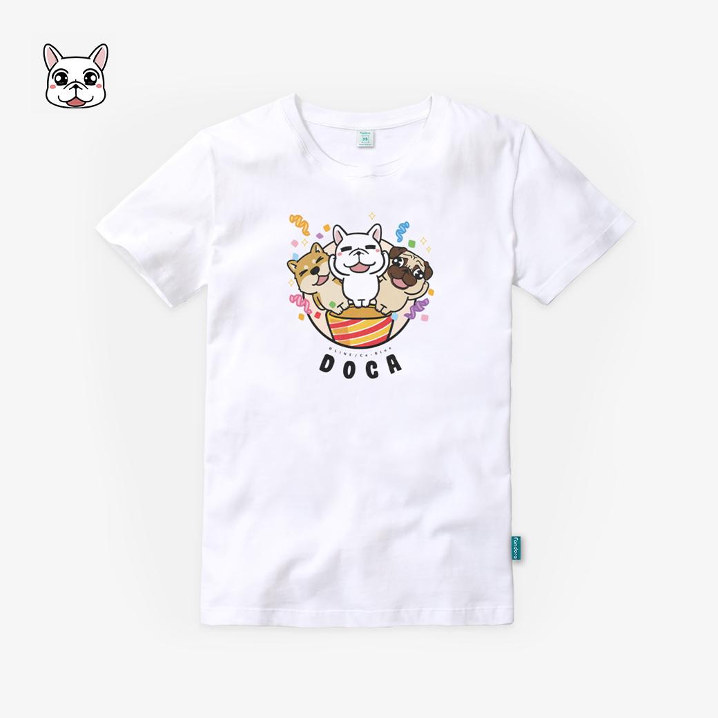 豆卡頻道_PARTY TIME棉花白T恤