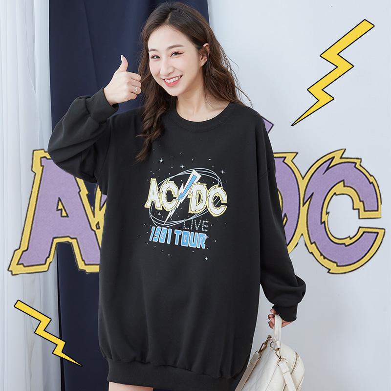 ★秋冬現貨★ACDC閃電星空衛衣布長版T-eFashion【N10118096】