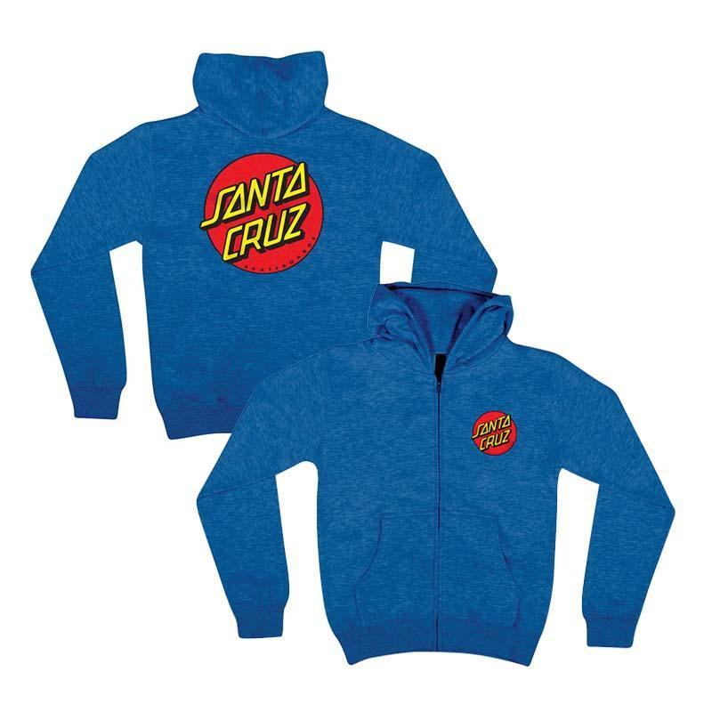 Santa Cruz 大童 44251123-RYH Classic Dot Zip Hoodie YOUTH 中磅 連帽外套 (藍色)