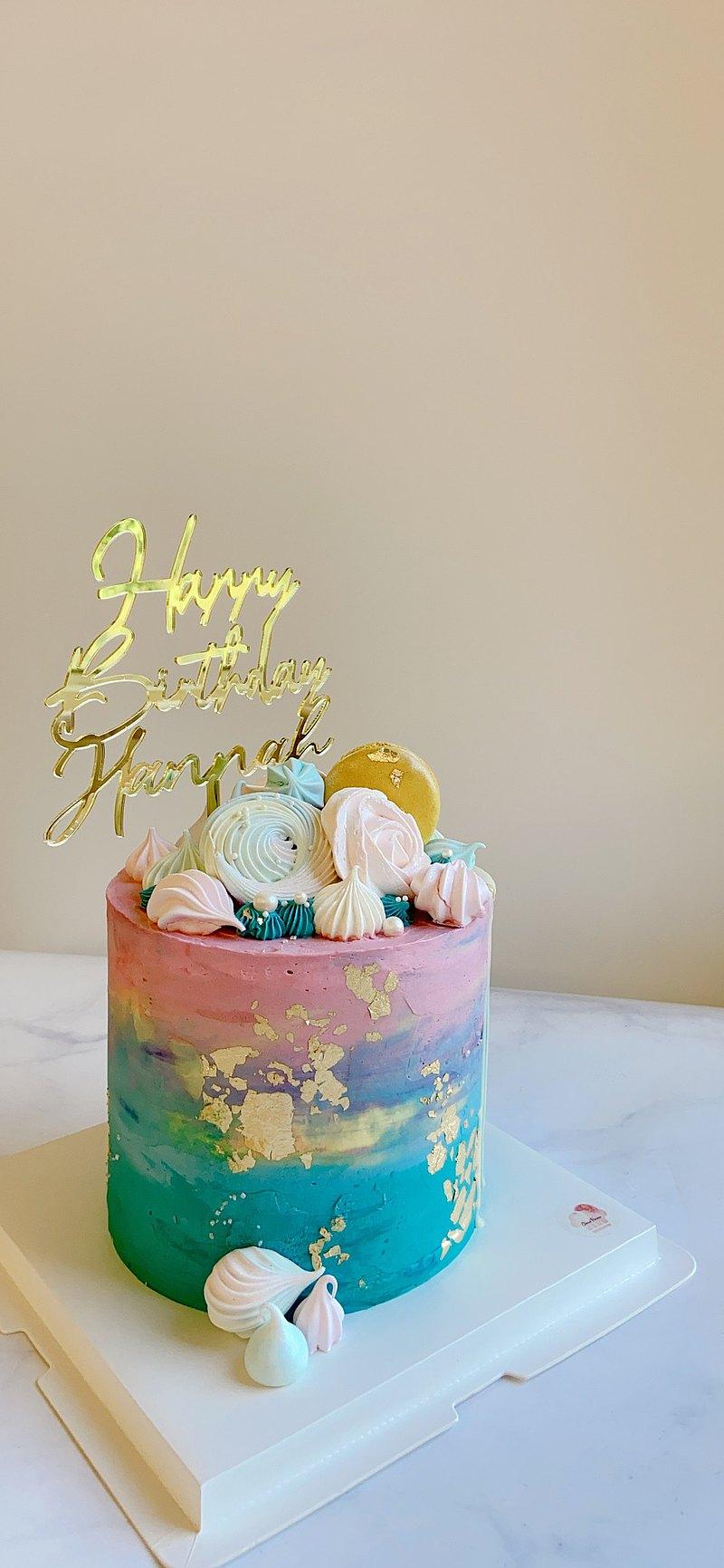 美的藝術品 暈染漸層蛋糕 自己動手做