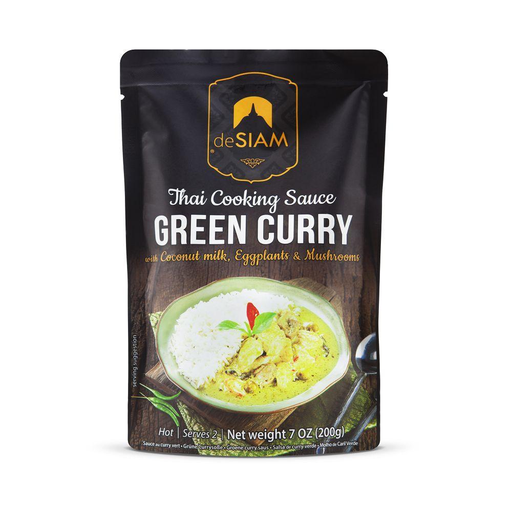 deSIAM暹羅泰式綠咖哩調理醬包Green curry sauce 200g