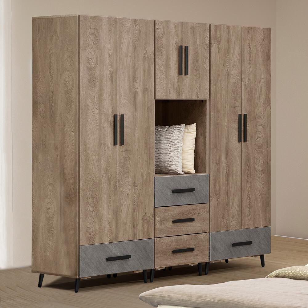 yostyle 雷納德7尺大衣櫃 衣櫥 吊衣架 收納櫃 置物櫃 櫥櫃 專人配送安裝