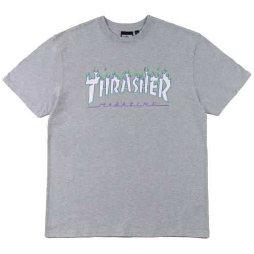 THRASHER - 日線 TH0320-1175 JOKER FLAME TEE 短T (灰色)