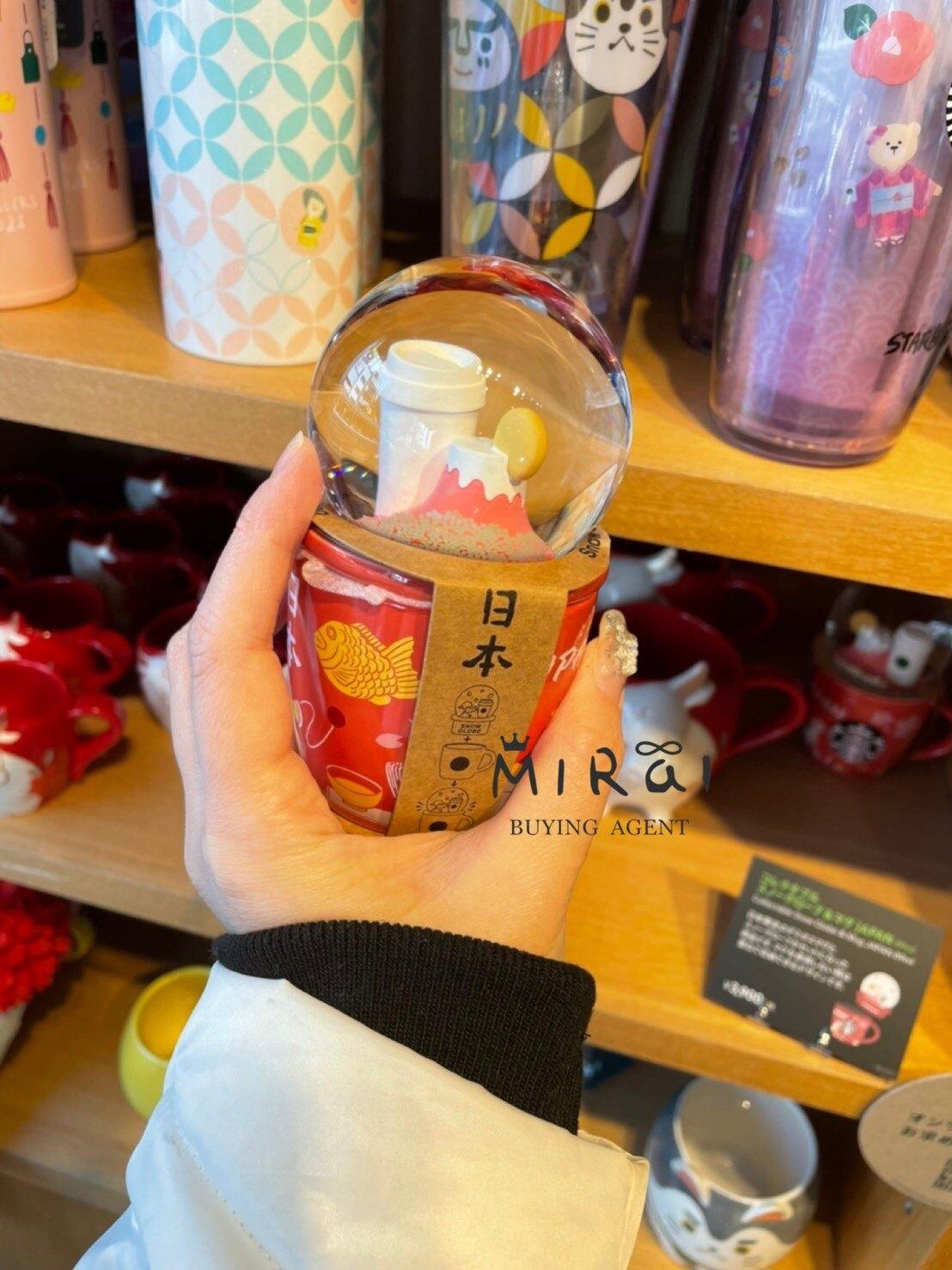 《現貨》日本-星巴克新年系列 水晶球富士山陶瓷杯89ml
