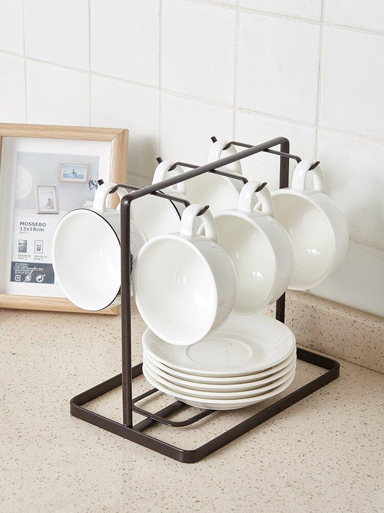 杯架 咖啡杯架子掛架創意家用放杯子倒掛玻璃水杯架瀝水收納架馬克杯架【MJ8831】