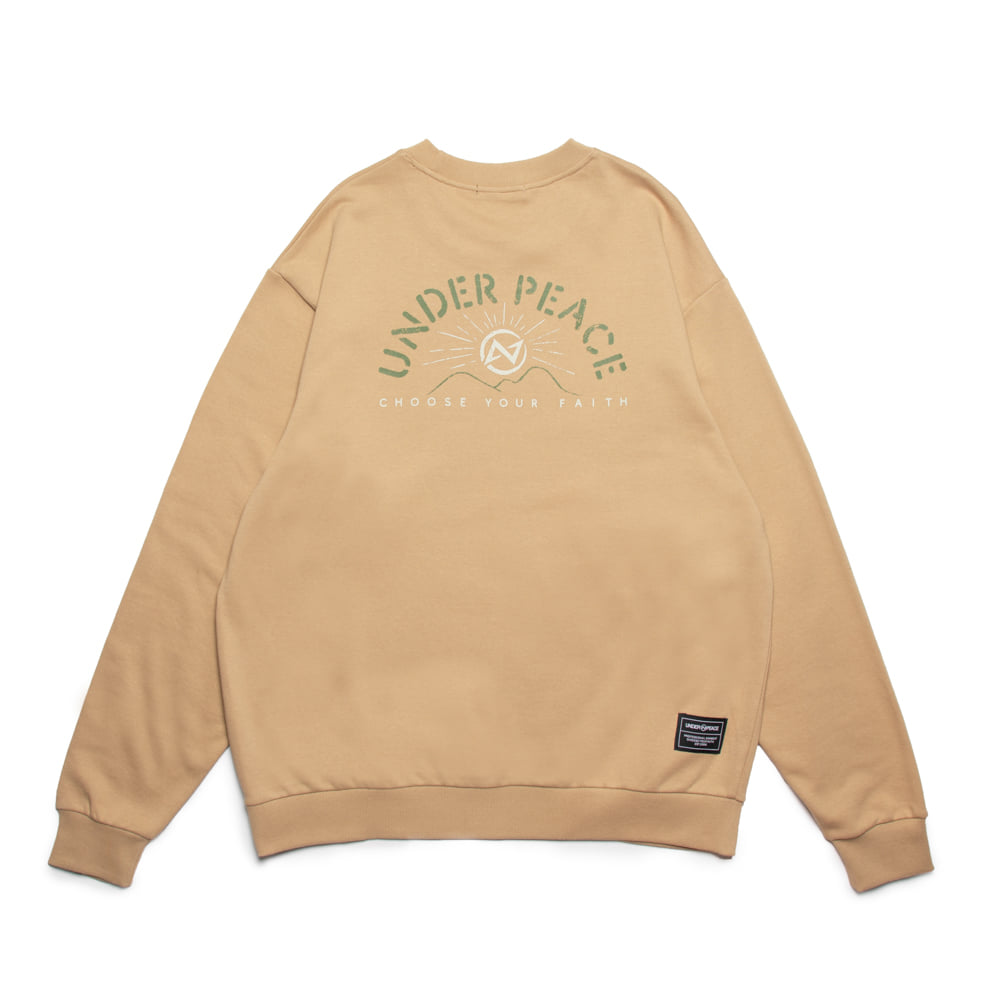 UNDER PEACE - 20AW SUNRISE / SWEATER 大學T (卡其)