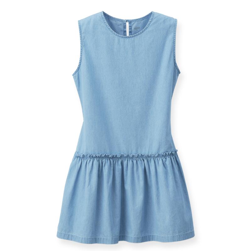 牛仔背心洋裝(漂淺藍)-女