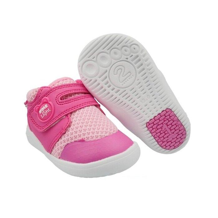 日本IFME小童高筒輕量機能學步鞋12~15公分 (高筒桃熊)