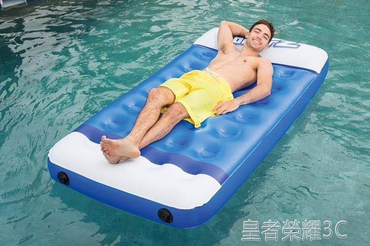 浮毯 Bestway水上充氣床墊 成人游泳圈遮陽蓬浮排加厚兒童防曬漂流躺椅YTL 走心小賣場