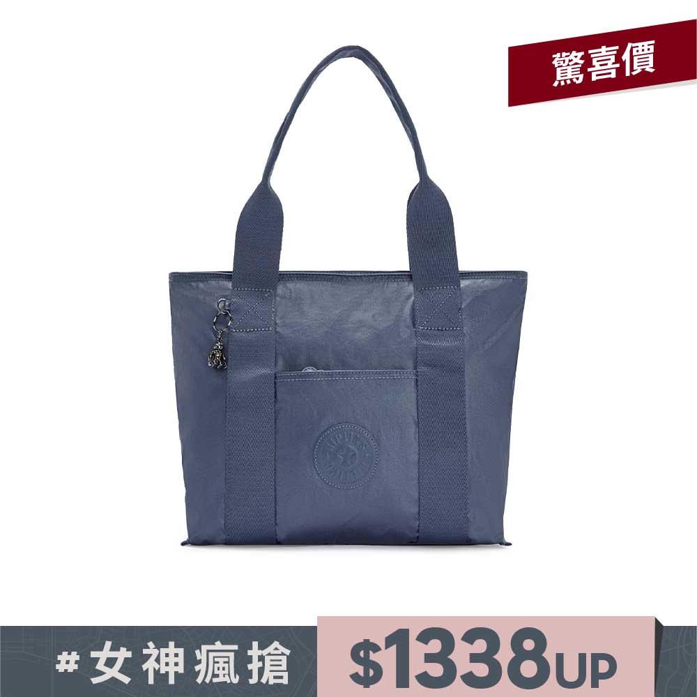 個性霧灰藍手提包-ERA S