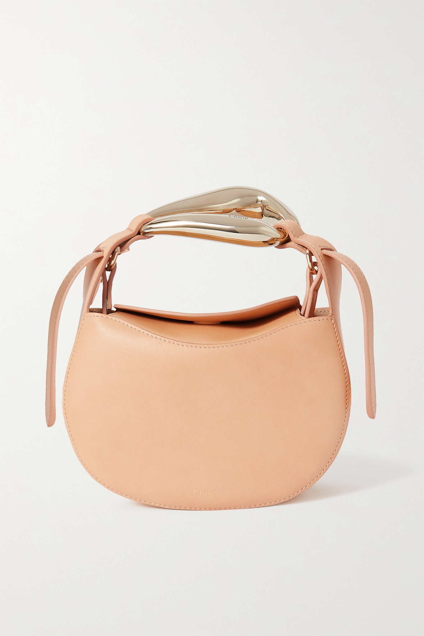 CHLOÉ - Kiss Small Leather Tote - Neutrals - one size