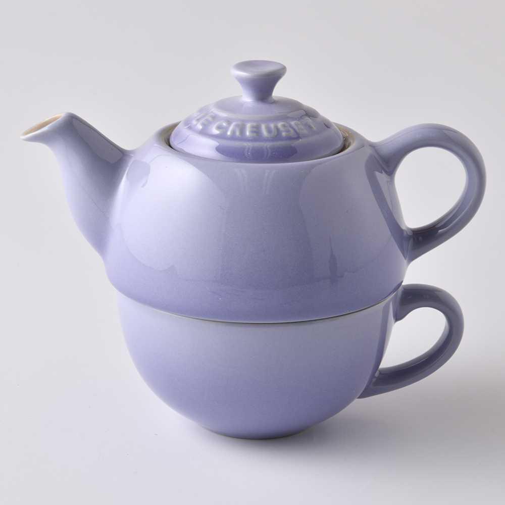 Le Creuset 單人茶具組 茶壺 茶杯 粉彩紫