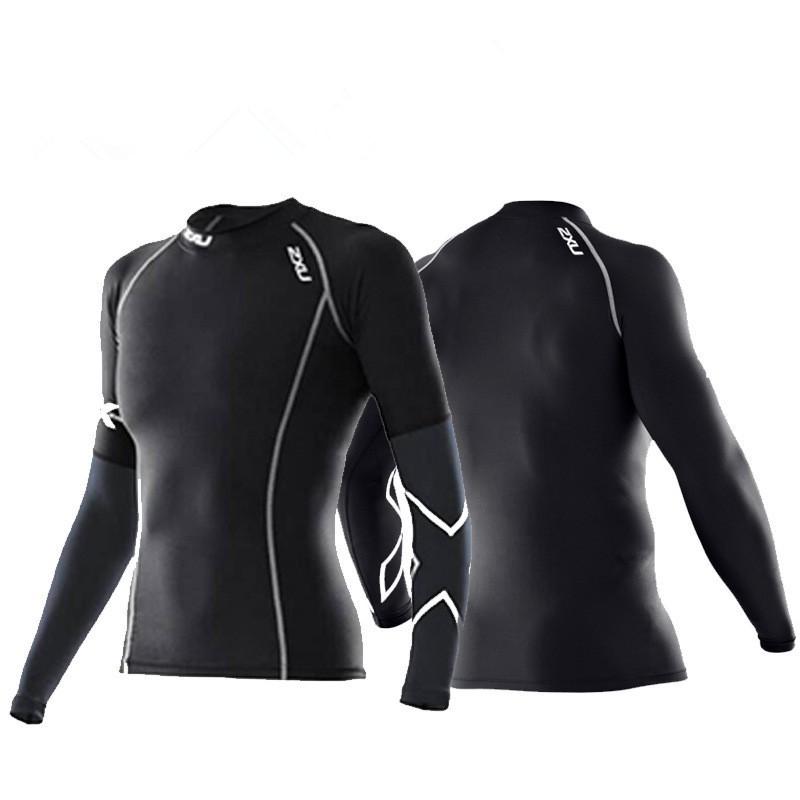 現貨2XU女士壓力長袖女壓縮長袖機能壓縮衣長袖籃球緊身衣 吸濕排汗速幹透气慢跑騎行女健身訓練服 籃球打底衫 運動緊身衣