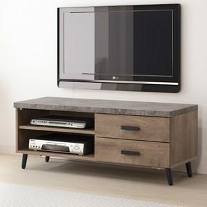 Homelike 若伊仿石紋4尺電視櫃-含組裝