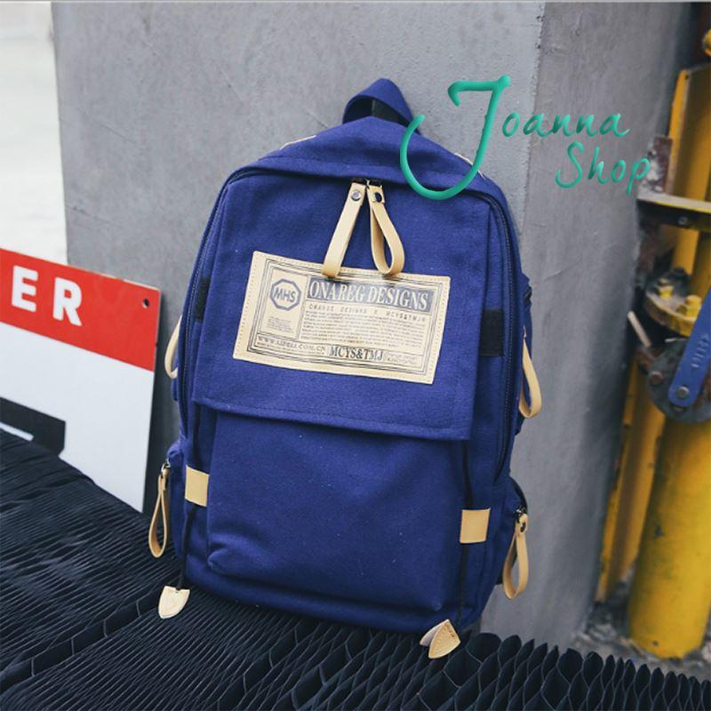 韓版背包帆布書包男女時尚潮流英倫學院風初中高中大學生旅行後背包2-Joanna Shop