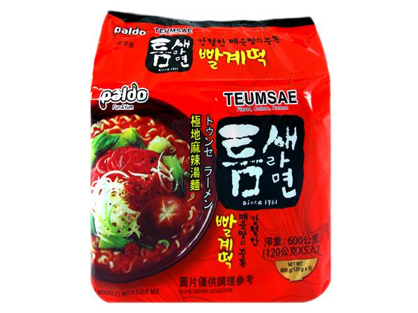 韓國 Paldo~ 韓國極地麻辣湯麵(120gx5入/整袋裝)【D104239】