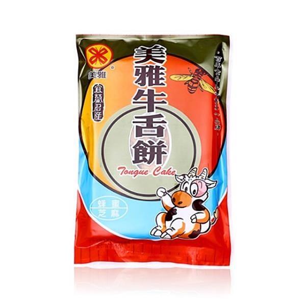【南紡購物中心】【美雅宜蘭餅】蜂蜜芝麻牛舌餅x15包