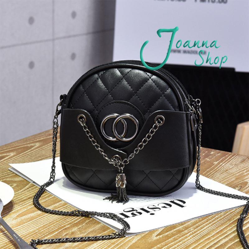熱賣韓版個性時尚圈圈隨手逛街必備斜背包-1Joanna Shop