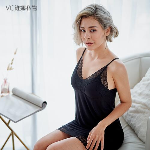 好夢美胸睡裙-黑色VC維娜私物369058
