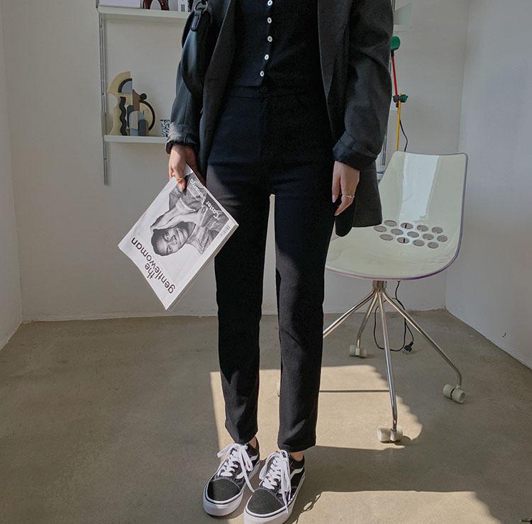 【missy shop】騙人細腿小黑褲-6621965