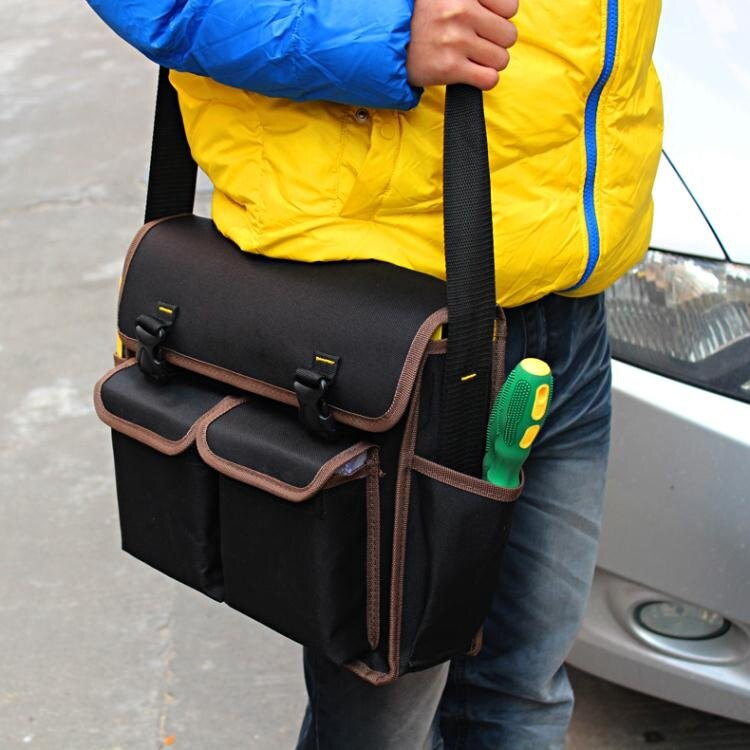 工具包 多功能維修電工工具包空調維修單肩牛津帆布大收納工具袋