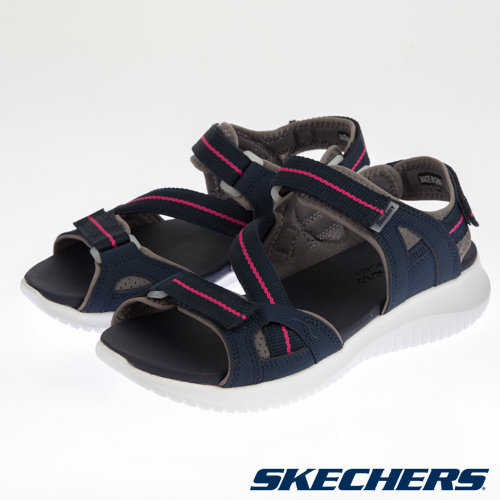 SKECHERS 女 休閒系列涼拖鞋 ULTRA FLEX - 32498NVPK