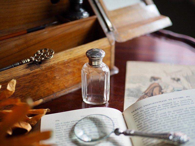 英國古董1886年純銀小罐(特惠商品)