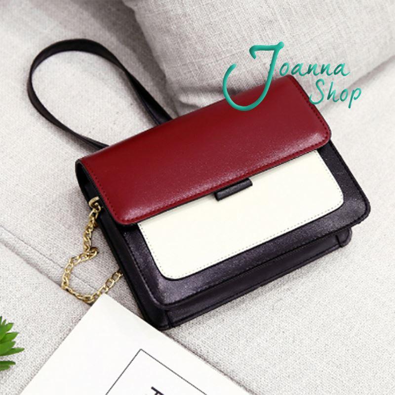 新日系質感簡約磁扣斜肩包4-Joanna Shop