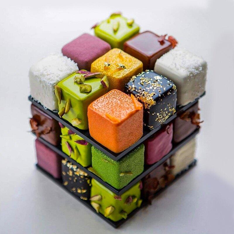 正方形硅膠蛋糕模具 15連魔方慕斯法式甜點果凍布丁冰塊烘焙工