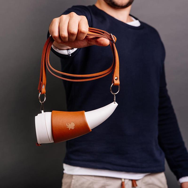GOAT STORY山羊角咖啡杯-PU皮款Goat Mug (350ml/470ml)-送麻布袋