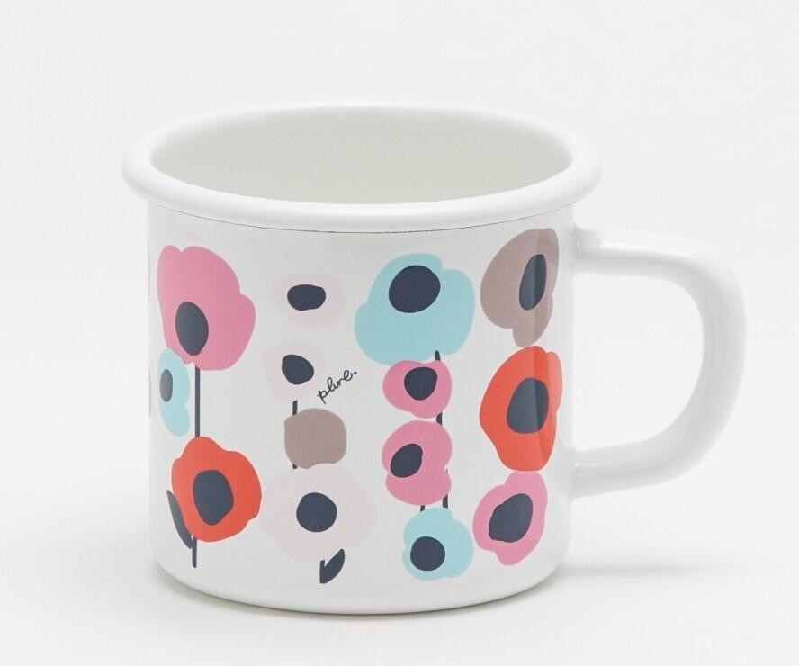 日系琺瑯馬克杯( 花朵)