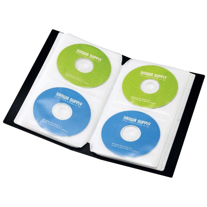 光碟收納 日本SANWA 72/96/120片光盤包CD盒CD包光碟收納包DVD包可立放書架【MJ9076】