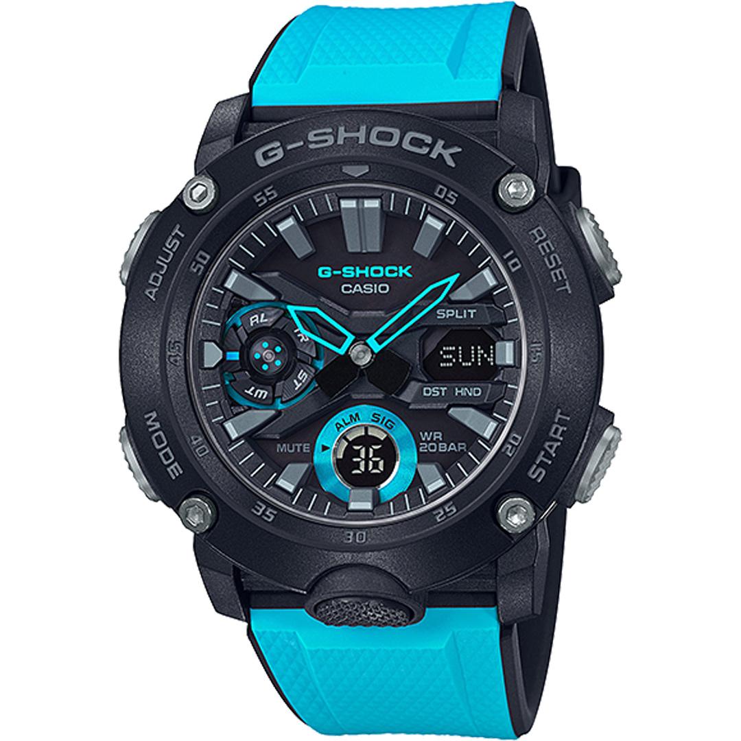 【下單抽・兩千元商品卡】G-SHOCK GA-2000-1A2 強悍運動風腕錶/藍x黑 GA-2000-1A2DR 手錶 熱賣中!
