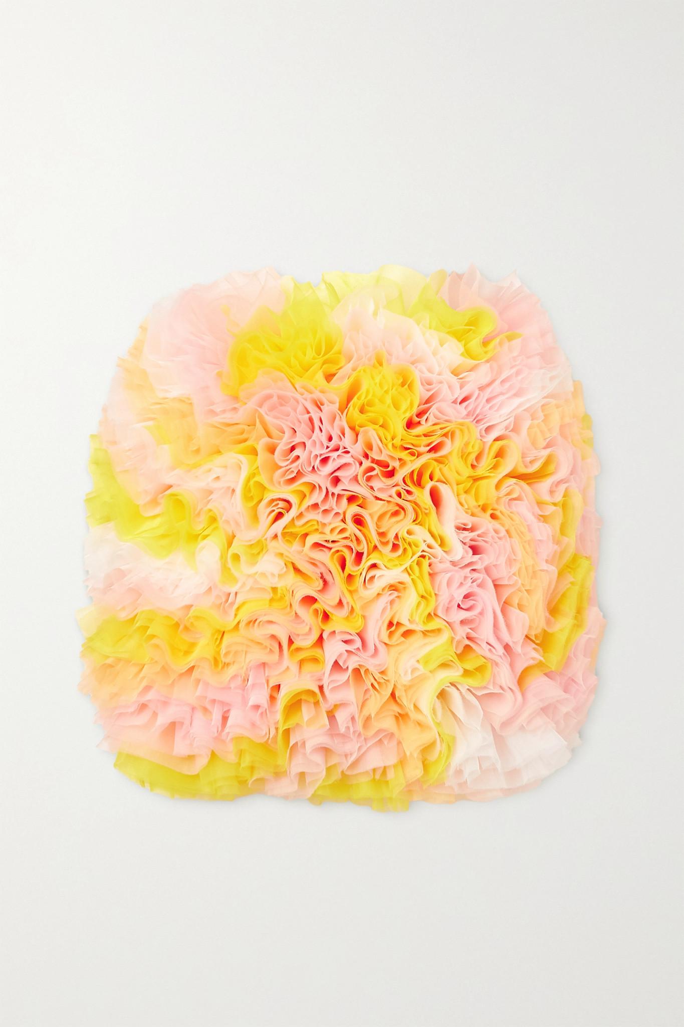 TOMO KOIZUMI X EMILIO PUCCI - Ruffled Tulle Skirt - Yellow - IT40