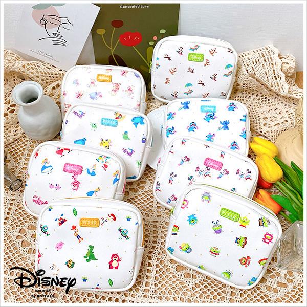 天藍小舖-迪士尼系列滿版印花奶油方塊收納包-共8色-$290【A09090383】