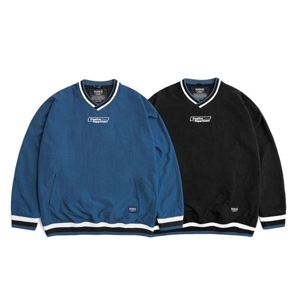 Filter017 - Crealive Dept. Coach Pullover 防風V領 罩衫 (黑色.藍色)