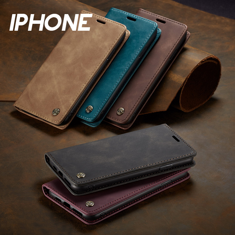 iPhone 12/12 Pro/12 Mini/12 Pro Max/11/11 Pro/11 Pro Max/SE/X/8/7系列 皮套磁吸翻蓋卡夾支架多功能手機殼(五色)【RCAS667】