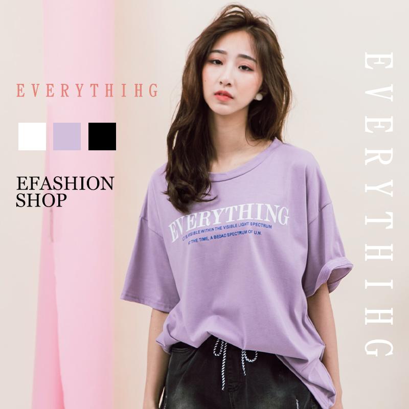EVERYTHING印字棉T-eFashion 預【P10113713】