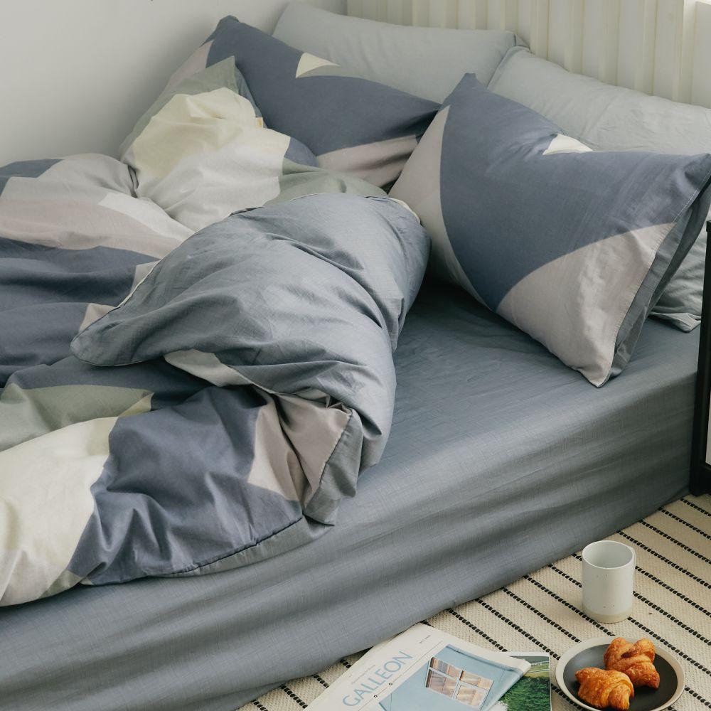 床包被套組(鋪棉兩用被套)-加大 / 100% 精梳純棉 / 斯奎爾德