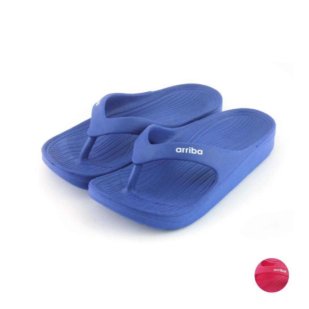 (加購品)ARRIBA艾樂跑童鞋-防滑夾腳拖鞋-藍/桃紅(TD6259)