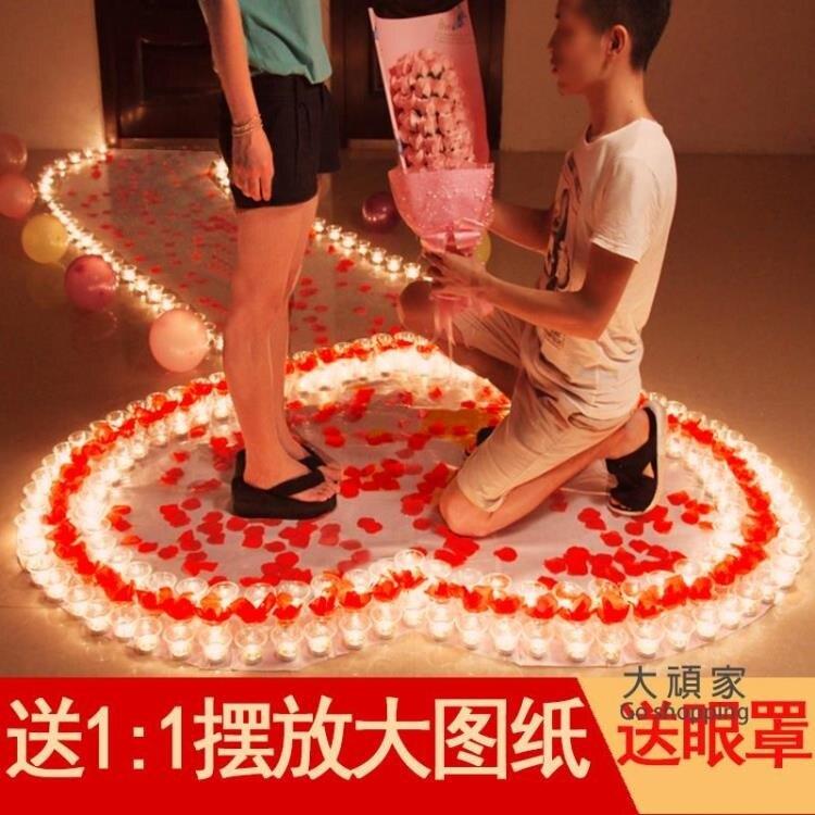 電子蠟燭 浪漫生日求婚佈置創意用品求愛表白場景神器愛心形燈