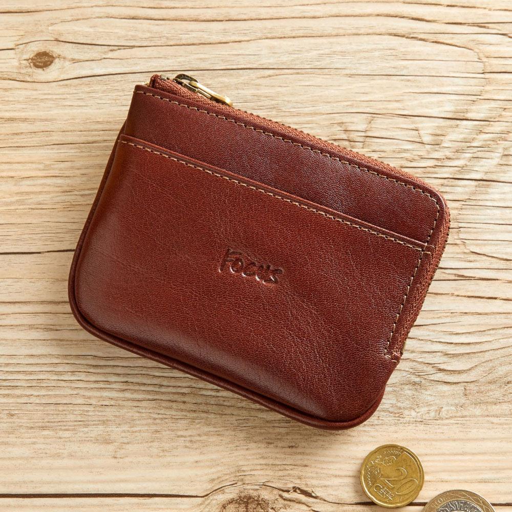 FOCUS經典原皮L型鑰匙零錢包(FTA0088)