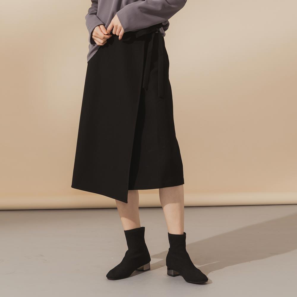 綁帶造型半長裙