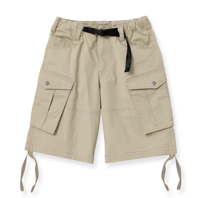 多口袋工作短褲(淺卡其)-男