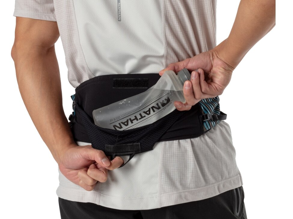 卡爾顛峰軟水壺(600ml)腰包.Nathan Pinnacle Hydration Belt.騎跑泳/勇者-運動配件.